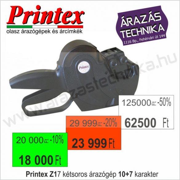 PRINTEX Z17/-% kétsoros árazógép / AKCIÓ - kedvezmény jelölésre