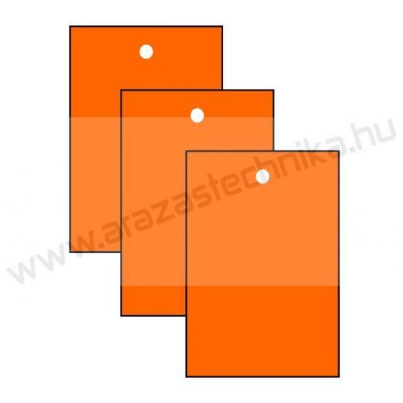 Függő címke 40×60mm NARANCS (200 db/csom)