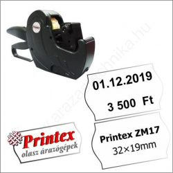 PRINTEX ZM17 kétsoros árazógép (32x19mm) - cikkszám
