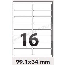 99,1x34 mm 16db/ív Rayfilm etikett címke [0806A]