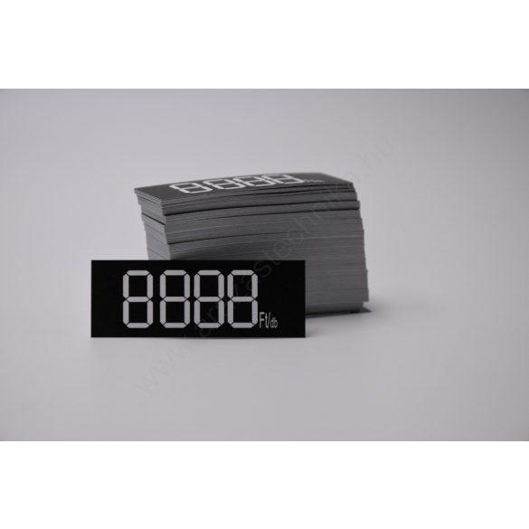 Digitális etikett 50×18 mm FEKETE alap (200 db/cs)