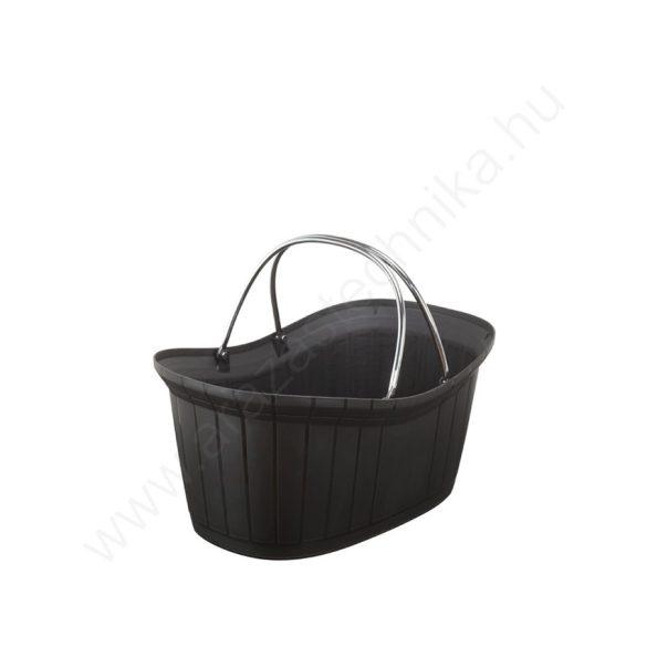 Elite - elegáns kézi bevásárló kosár 12l - fekete