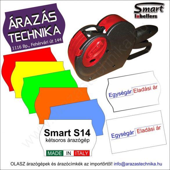 Smart S14 kétsoros egységáras árazógép 8+6 karakter
