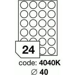 Körcímke 40mm (24db/ív) Rayfilm (100ív/#)  [4040]