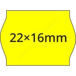 22x16mm FLUO citrom árcímke METO1622 géphez (42tek/#)