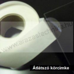 25mm átlátszó körcímke - PP CLEAR műanyag lezárócímke