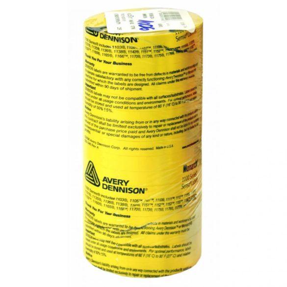 Monarch 1110 géphez 10x18,6mm citrom árazószalag - AVERY Dennison