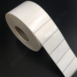 50×25 mm PP WHITE GLOSS címke (2500db/tek)