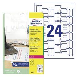 Öntapadó kábeljelölő etikett 60x40mm (Avery L7950-20)