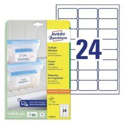 Fagyasztó címke  63,5 x 33,9 mm (Avery L7970-25)