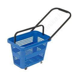 32 literes gurulós bevásárló kosár - kék