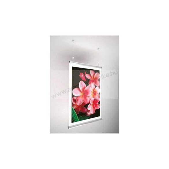 Posztertartó, alumínium kipattintható plakátsín 120 cm