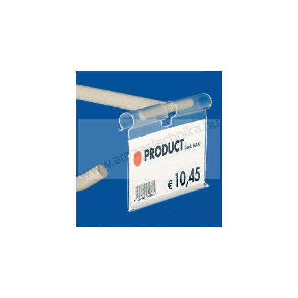 Kampóvégre árcímketartó tok PVC Profile 40×60mm átlátszó BTM