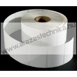 40x35 mm PET Matt WHITE ( 2.000db/tek) öntapadós címke
