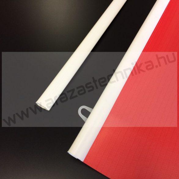 Posztertartó, plakátsín 42 cm fehér 1pár+ 2db akasztó (A2)