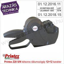PRINTEX  Z20 S/N kétsoros dátumozógép 12+12 karakter