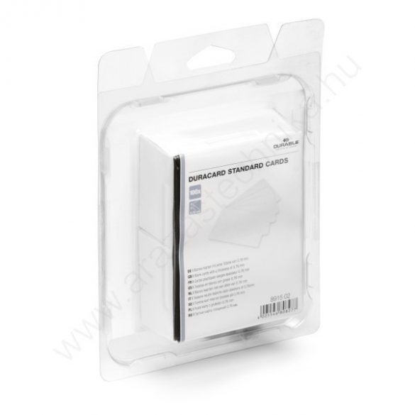 Duracard plasztikkártya 0,76mm - 100db/csomag (8915-02)