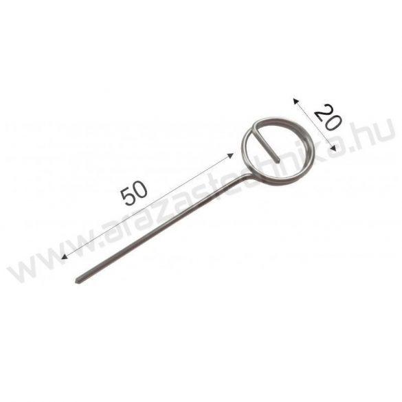 TÜSKE - ( 5cm) INOX árcímke tartó
