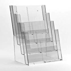 Prospektustartó 4 x A4, vagy 8 x 1/3 A4 - asztali