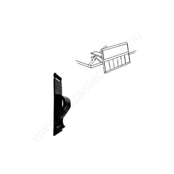 Árkazetta rögzítő - CLIP üveglapra - FEKETE (+adapter)