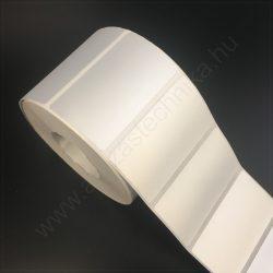 70x40mm PET MATT SILVER -  ezüst ipari címke