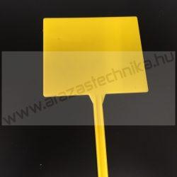 Sárga beszúrható 100×85mm ártábla