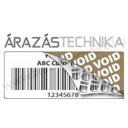 VOID 40x15mm (1.000db/40) biztonsági címke