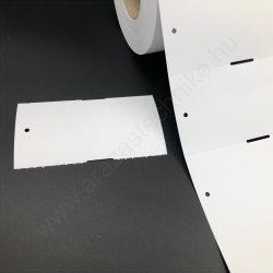 Függő etikett PVC 100x54mm - kültéri- nem öntapadós (500db/tek)