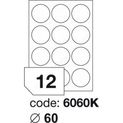 Körcímke 60mm (12db/ív) Rayfilm (100ív/#) [6060]