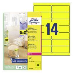 99,1 X 38,1mm visszaszedhető címke ( L7263Y-25) citrom