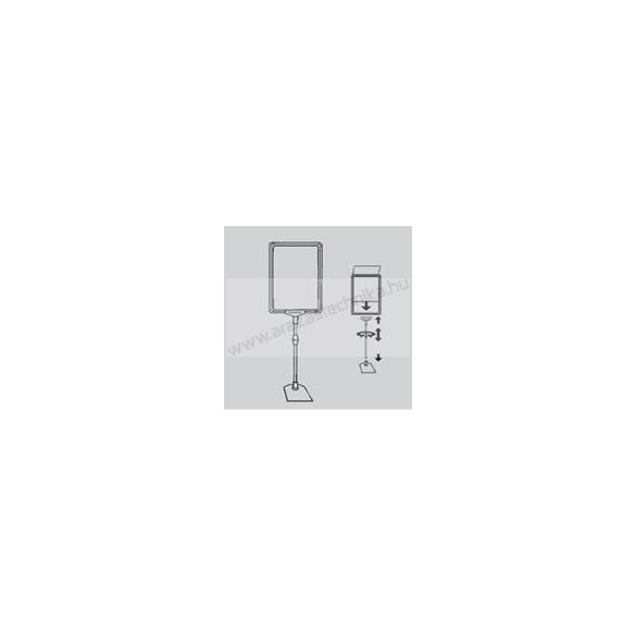 Információs állvány - A3 plakátkeret + (kihúzható SZÁR 2*30 cm) + PVC lapvédő fólia
