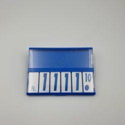 Árkazetta 74×51mm kék-fehér