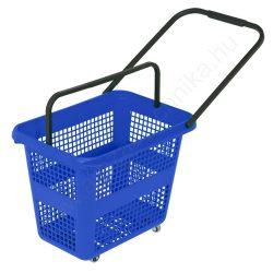 54 literes gurulós bevásárló kosár - kék