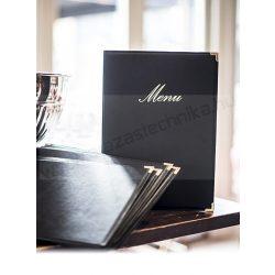 Securit®  A5  Étlaptartó, CLASSIC Fekete, bővíthető változat