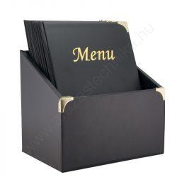 A4  Étlaptartó BASIC Fekete  ×10db + tároló doboz Securit®