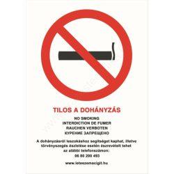 Tilos a dohányzás! A4 TÁBLA (UV álló kültéri festék)