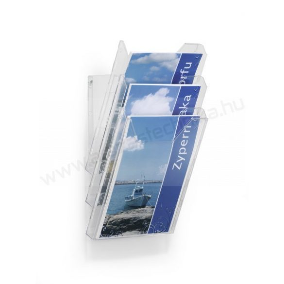 A4 Prospektustartó fali - asztali (8580) COMBIBOXX SET L (3 rekesz)