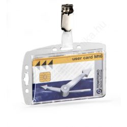 Belépőkártya tartó - zárt AKRYL + fém csipesz (8005-19)