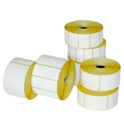 80x40 mm TT papír címke (1.000 db/40) erős ragasztó