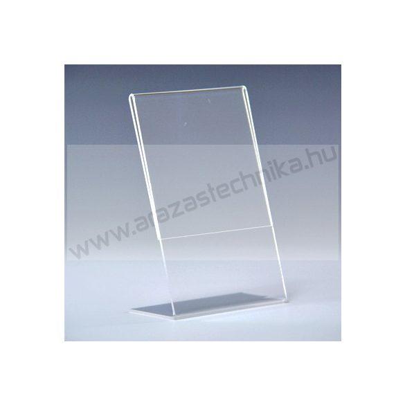 Árcímke tartó plexi 54×90 mm, álló