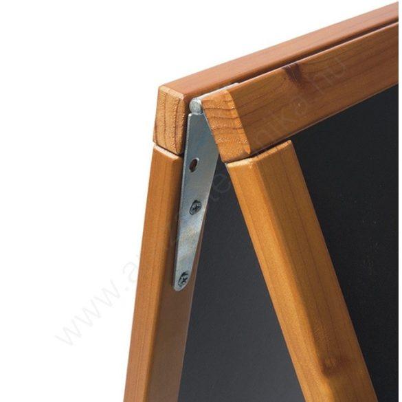 Krétás megállító tábla - 70x125 cm - Exkluzív (kültéri) - tölgy keret (SBSW-TE-120)