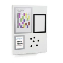 Fehér mágnestábla 60×45cm (5001-10) DURAFRAME® MAGNETIC BOARD S