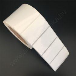75x39,2 mm műanyag  PP WHITE címke