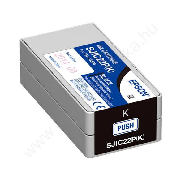 Epson SJIC22P(K) fekete tintapatron
