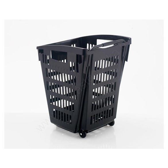 52 literes gurulós kosár - RECYCLED fekete (újrahasznosított anyagból)