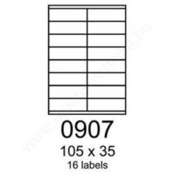 105×35 mm 16 db/ív Rayfilm íves etikett címke [0907A]