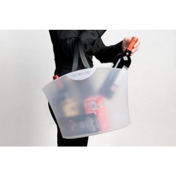 Bevásárló kosár - MiniShophie 6L - átlátszó fehér