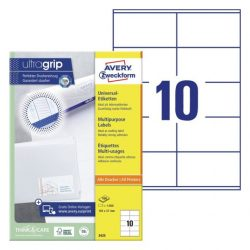 105 x 57mm univerzális címke (Avery 3425)