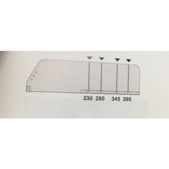 OPTI (2) -  Termékelválasztó törhető OLDAL 120×448 mm