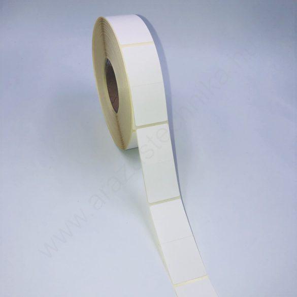 25×57mm címke THERMO (1.000db/40) PERFORÁLT félbehajtható